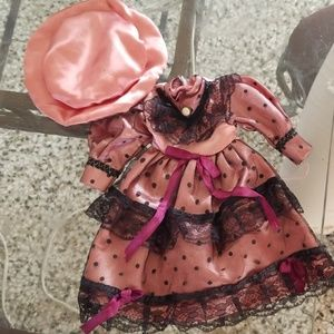 BabyDoll vintage silk and lace dress and hat